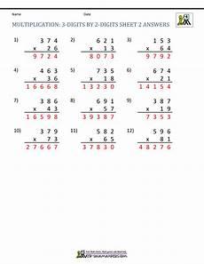multiplication worksheets for grade 3 3 digit by 2 digit 4750 multiplication sheets 4th grade