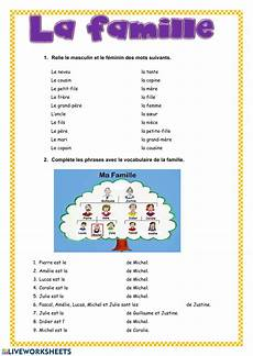 la famille interactive worksheet