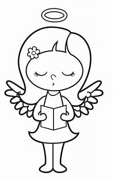 ausmalbild engel kostenlose malvorlage singender engel