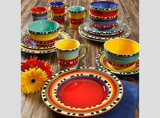Gibson Elite Chili Verde Mix and Match Dinnerware Set