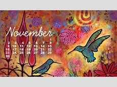 November Desktop Wallpaper Calendar   Colorful Whimsical
