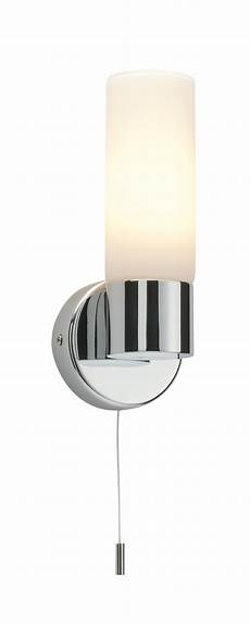saxby pure single bathroom wall light pull cord switch chrome glass 40w e14 ebay