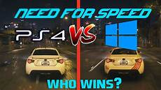 need for speed 2015 pc vs ps4 graphics comparison
