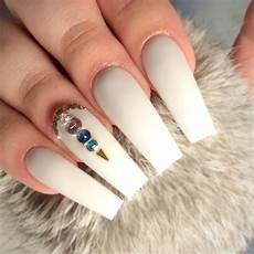54 best white acrylic nails designs fashion 2d