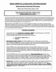 fillable online retirement plan qdro guidelines and mrobenefits com fax email print