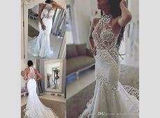 Lace Halter See Through Wedding Dresses Sexy Sleeveless
