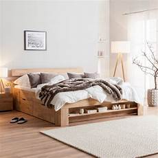 lit en bois massif eoswood avec tiroirs home24 fr