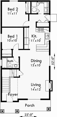 narrow two level house plan 6 bedrooms