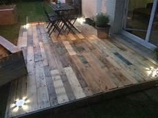 terrasse palettes pour jardin de montage
