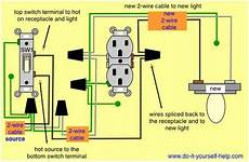wiring diagram to add a light fixture to a switched receptacle light fixtures light switch