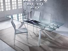 tavoli soggiorno cristallo elegante tavolo allungabile con piano in vetro idfdesign