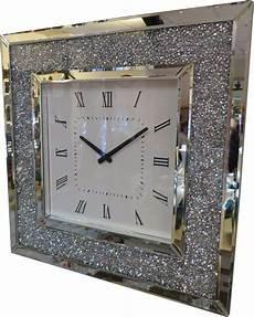 square diamante mirror wall hanging analogue