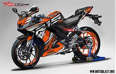 Yamaha R15 Modifikasi Stiker by Modifikasi All New Yamaha R15 Orange Rc Splash Motoblast
