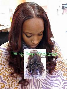 full head sew in w lil out tracked hair and hair left