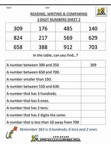 place value worksheets and answers 5013 second grade math worksheets reading writing comparing 3 digits 2 math place value