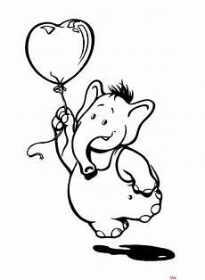 malvorlage elefant mit luftballon zeichnen und f 228 rben