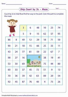 skip counting mazes worksheets 11955 skip counting by 3s worksheets