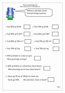 percentages english money and metric measures worksheet for 5th 6th grade lesson planet