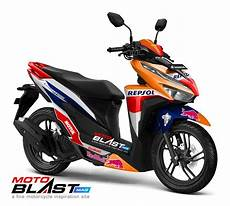 Honda Vario 150 Modifikasi by Modifikasi Striping Honda Vario 150 Facelift Livery Repsol