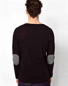 asos sleeve t shirt with contrast patches in