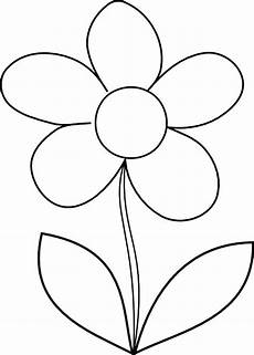 Malvorlage Blume Einfach How To Draw Flower Coloring Page Classroom Ideas