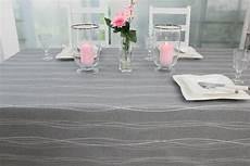 Tischdecke Abwaschbar Grau Muster Wellenlinien Breite 130