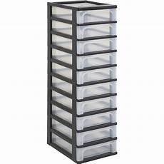 casier de rangement plastique tour de rangement plastique l 26 x p 82 x h 35 5 cm