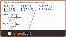 Lineare Funktionen Funktionsgleichung Aus Zwei Punkten