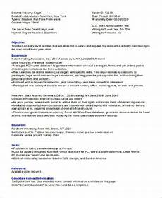 sle legal assistant resume 8 exles in word pdf