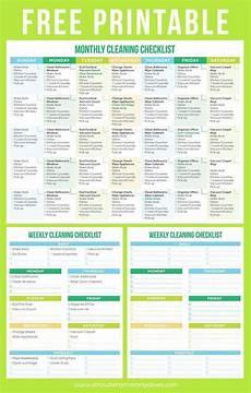 Check Liste Pour Déménager Maintain A Clean Home Printable Cleaning Schedule Liste De
