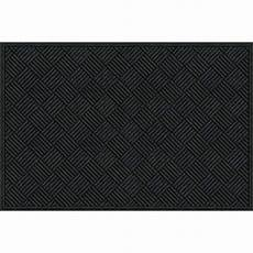 apache mills inc black rectangular door mat common 4
