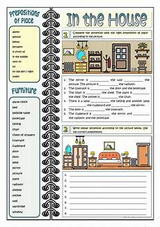 places in the house worksheets 15999 in the house prepositions of place worksheet free esl printable worksheets made by teachers