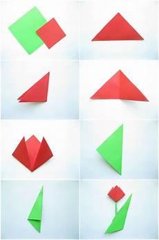 schmetterling falten kindergarten anleitung einfache origami tulpe falten mit kindern schule
