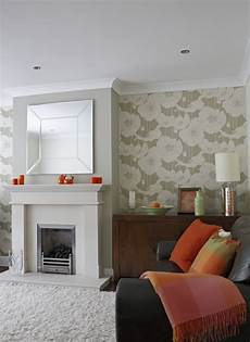 orange colour accents contemporary living room dublin by optimise design