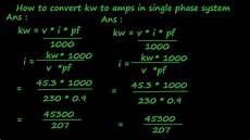 umrechner kw ps how to convert kw to s in single phase system