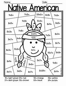 thanksgiving multiplication color by number by isaacson tpt