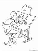 Architect Coloring Page  Pages