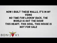 Bon Jovi This House Is Not For Sale Official Lyrics