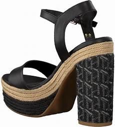 schwarze hilfiger sandalen th raffia high heel