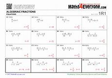 fraction algebra equations worksheets 3926 algebraic fractions gcse revision worksheet solving equations teachwire teaching resource