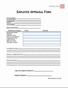 ms word employee appraisal form template word document templates