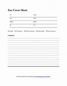 blank fax cover sheet printable pdf