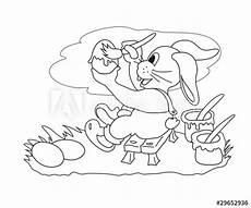 Ausmalbilder Osterhase Im Auto Quot Malvorlage Hase Bei Der Arbeit Quot Stockfotos Und