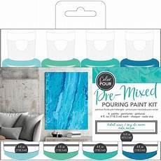 american crafts color pour pre mixed paint kit 4 pkg tidal wave walmart canada