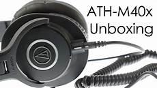 audio technica ath m40x headphones unboxing youtube