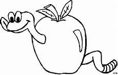 Malvorlagen Apfel Mit Wurm Wurm Im Apfel Ausmalbild Malvorlage Comics