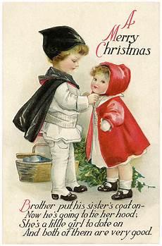 vintage christmas children postcard the graphics
