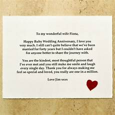 message for wedding gift ruby wedding anniversary gift by arnott cards