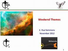 weekend themes 11 5 12