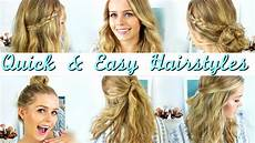 quick easy heatless hairstyles how to style medium length hair youtube